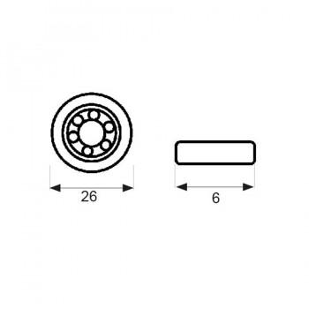 Rodamiento Mampara RD1 26mm MICEL