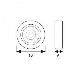 Rodamiento Mampara RD1 16mm MICEL