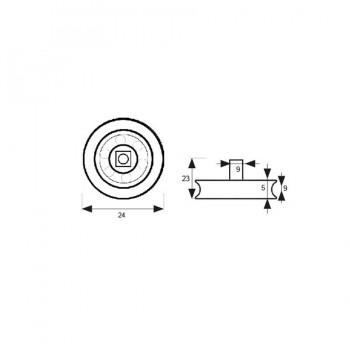 Rodamiento Mampara Tubo RD2 24mm MICEL