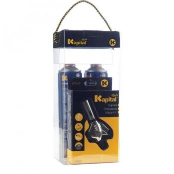 Kit Soldadura Blanda Soplete K647 + 2 Botellas KSUPRAGAS330 KAPITAL
