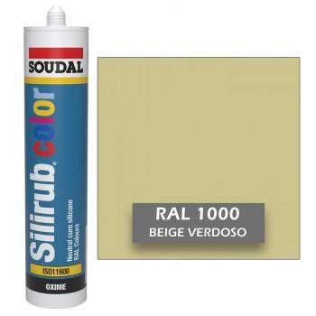 Silicona Beige Verdoso RAL 1000 Neutra SOUDAL Silirub Color 300ml