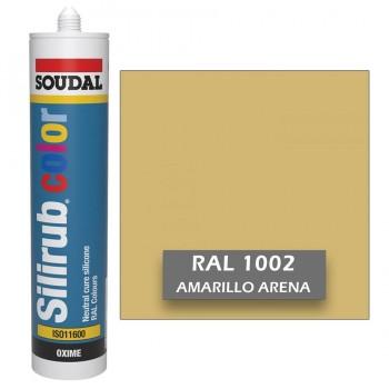 Silicona Amarillo Arena RAL 1002 Neutra SOUDAL Silirub Color 300ml