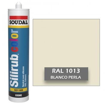 Silicona Blanco Perla RAL 1013 Neutra SOUDAL Silirub Color 300ml