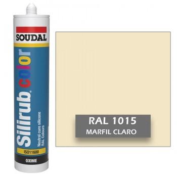 Silicona Marfil Claro RAL 1015 Neutra SOUDAL Silirub Color 300ml
