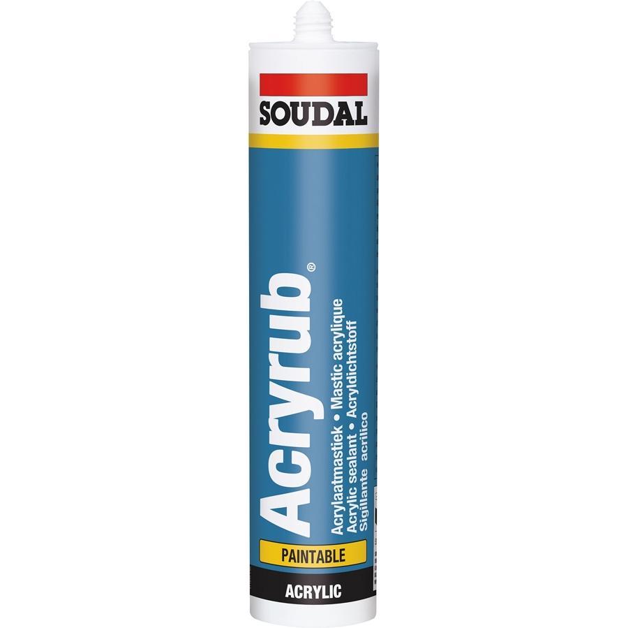Masilla Acryrub 310 ml Soudal
