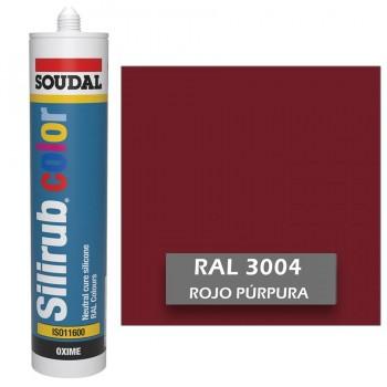 Silicona Rojo Púrpura RAL 3004 Neutra SOUDAL Silirub Color 300ml