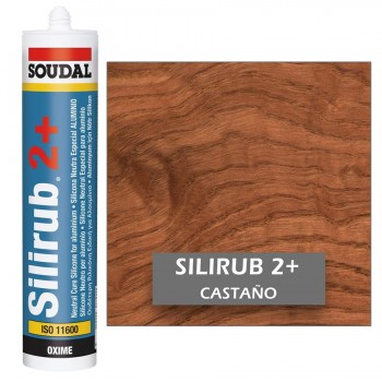 Silicona Neutra CASTAÑO Silirub 2+ 300ml SOUDAL