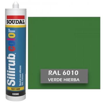 Silicona Verde Hierba RAL 6010 Neutra SOUDAL Silirub Color 300ml
