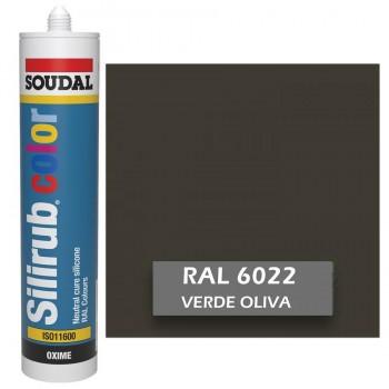 Silicona Verde Oliva RAL 6022 Neutra SOUDAL Silirub Color 300ml