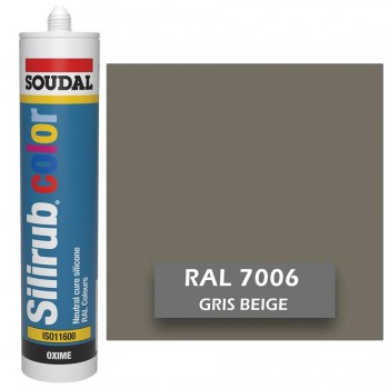 Silicona Gris Beige RAL 7006 Neutra SOUDAL Silirub Color 300ml