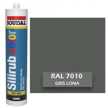 Silicona Gris Lona RAL 7010 Neutra SOUDAL Silirub Color 300ml