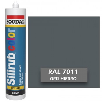Silicona Gris Hierro RAL 7011 Neutra SOUDAL Silirub Color 300ml