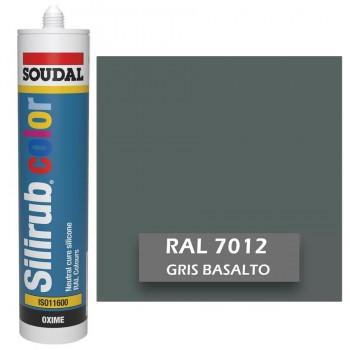 Silicona Gris Basalto RAL 7012 Neutra SOUDAL Silirub Color 300ml