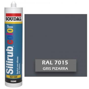 Silicona Gris Pizarra RAL 7015 Neutra SOUDAL Silirub Color 300ml