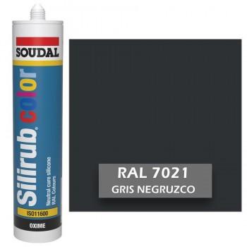 Silicona Gris Negruzco RAL 7021 Neutra SOUDAL Silirub Color 300ml