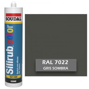 Silicona Gris Sombra RAL 7022 Neutra SOUDAL Silirub Color 300ml