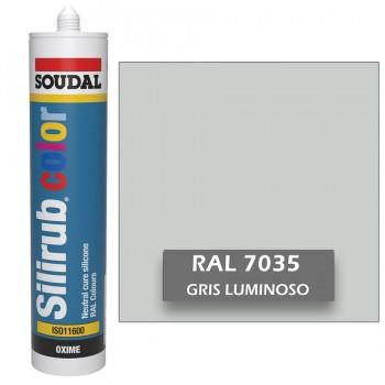 Silicona Gris Luminoso RAL 7035 Neutra SOUDAL Silirub Color 300ml