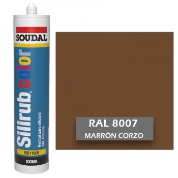 Silicona Marrón Corzo RAL 8007 Neutra SOUDAL Silirub Color 300ml