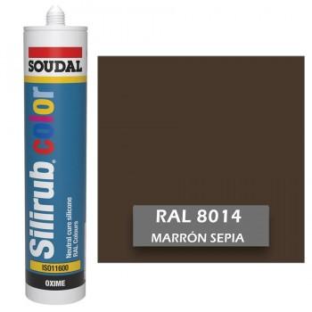 Silicona Sepia RAL 8014 Neutra SOUDAL Silirub Color 300ml