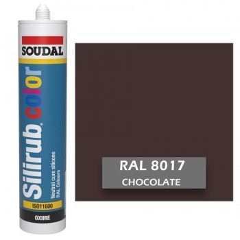 Silicona Chocolate RAL 8017 Neutra SOUDAL Silirub Color 300ml
