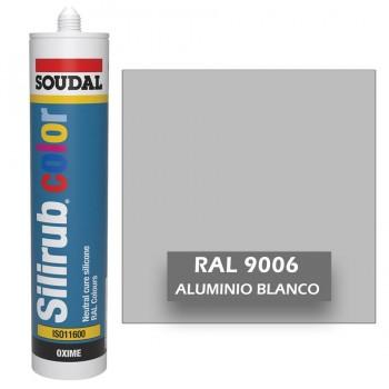 Silicona Aluminio Blanco RAL 9006 Neutra SOUDAL Silirub Color 300ml