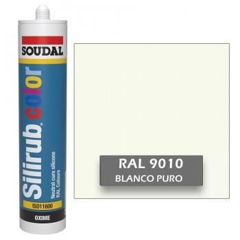 Silicona Blanco Puro RAL 9010 Neutra SOUDAL Silirub Color 300ml