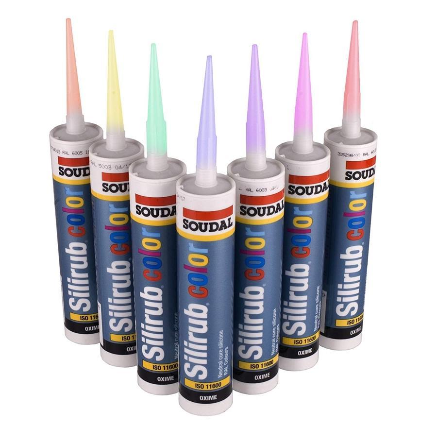Silicona Neutra de Colores RAL SOUDAL Silirub Color