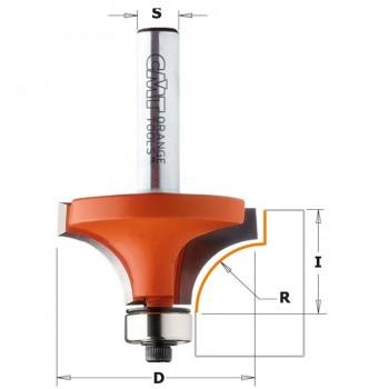 Fresa de Radio Cóncavo - R=12,7 I=19 D=38,1 L=61 S=8