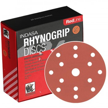 DIsco Lija Velcro 150mm 15A INDASA RHYNOGRIP RED LINE