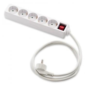 Regleta Base Múltiple 5 Tomas Interruptor Cable 3mts FAMATEL