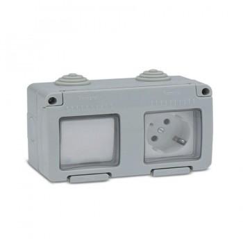 Conmutador + Base TT Estanco 16A 250V IP55 FAMATEL