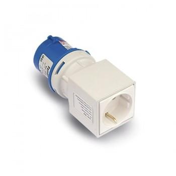 Adaotador Clavija CETAC/SUCKO 2P+T Base 2P+TTL Azul FAMATEL