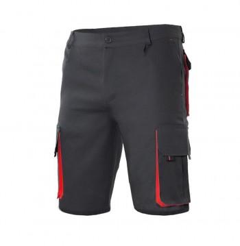 Bermuda Multibolsillo Bicolor Negro / Rojo 103007 0 12 VELILLA (Talla 54)