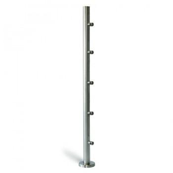 Poste 1000mmX42,4 + 5 Soportes Barra Redonda 12mm. EM2421205 IAM Design