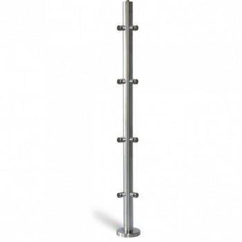 Poste 1000mmX42,4 + 5+5 Soportes Barra Redonda 90º 12mm. EM242120590  IAM Design