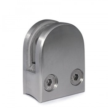 Pinza Acero Vidrio Curva para Tubo de 42,4mm. E21004200 IAM Design