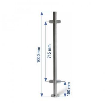 Poste 1000mmX42,4 + 2+2 Pinzas Vidrio 8 Y 10mm. EC24204P IAM Design