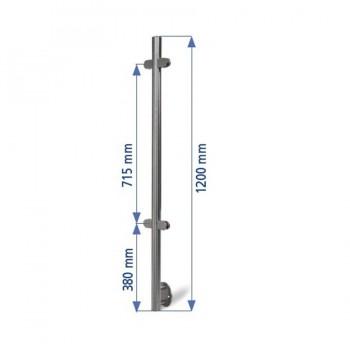 Poste 1200mmX42,4 + 4 Pinzas Vidrio ED24204P IAM Design