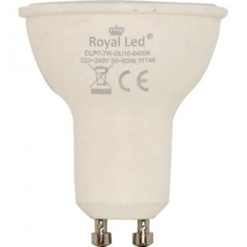 Bombilla LED Dicroica 7W GU10 6400K ROYAL LED