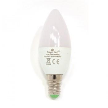 Bombilla Vela LED 6W E14 6400K ROYAL LED