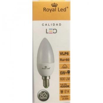 Bombilla Vela LED 6W E14 4200K ROYAL LED
