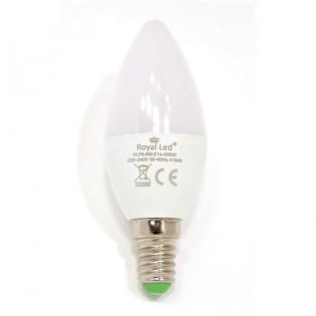 Bombilla Vela LED 6W E14 3000K ROYAL LED