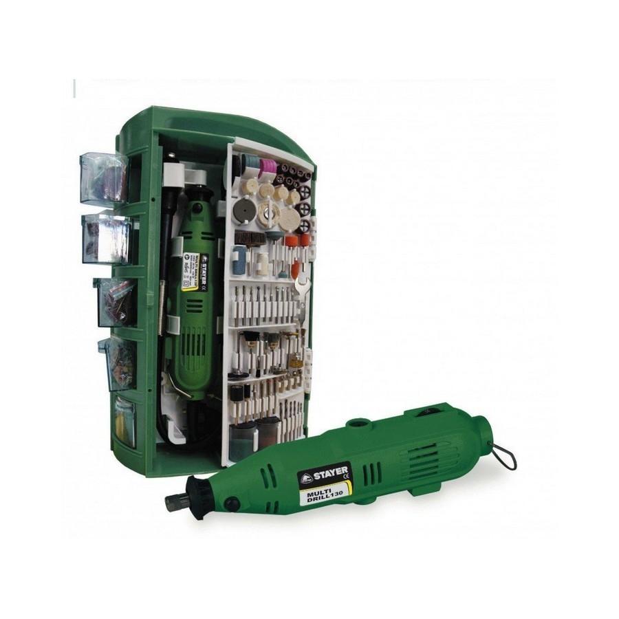 Multi Drill 130W con maletín 200 Acces. Stayer