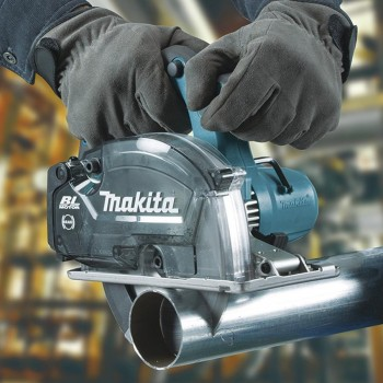 Cortador de Metal con Deposito DCS553RTJ 150mm 18V (Makpac 3 + 2 Bat 5.0Ah + Cargador) MAKITA