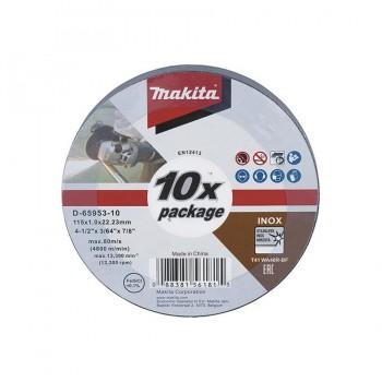 Disco Corte Inox 115x1x22 mm. D-65953-10 MAKITA (Lata 10 uds.)