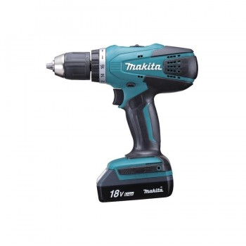 Makita DF457DWE Taladro Atornillador 18V 42Nm Litio 1,3Ah  2 Bat.