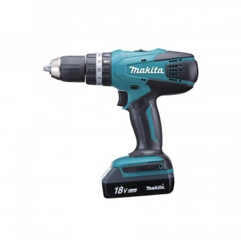Makita HP457DWE Taladro Percutor 18V 42Nm Litio 1,3Ah 2 Bat.