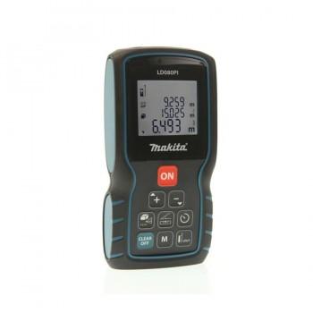 Medidor láser 80m con nivelación y pie multifuncional LD080PI MAKITA