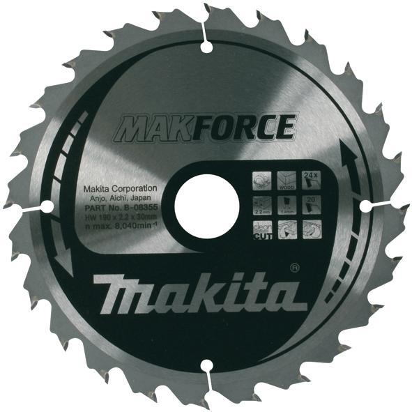 Makita Discos MakForce para Sierras Circulares Corte Madera