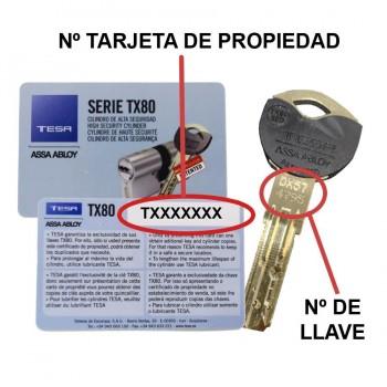 COPIA LLAVE TESA TX80